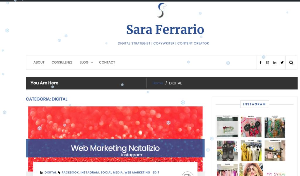 Sara Ferrario snowflakes effect