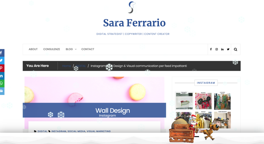 Sara Ferrario xmas Greetings